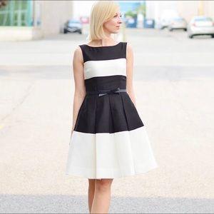 Kate Spade Gayle colorblock striped A-line dress 4